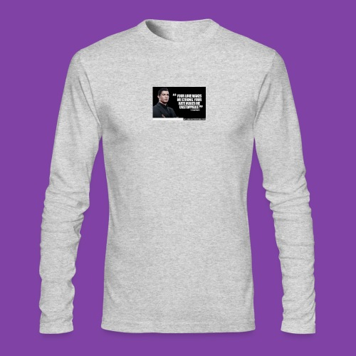 255777-Cristiano-ronaldo------quote-w - Men's Long Sleeve T-Shirt by Next Level