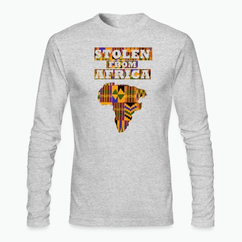 STOLEN FROM AFRICA Kente - Men's Long Sleeve T-Shirt by Next Level