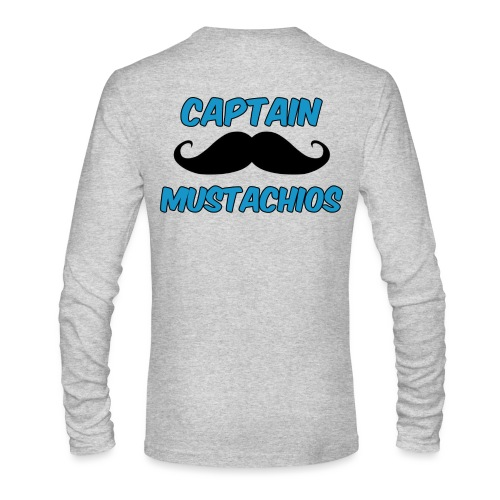 Captain Mustachios Logo For Spreadshirt T Shirt pn - Men's Long Sleeve T-Shirt by Next Level