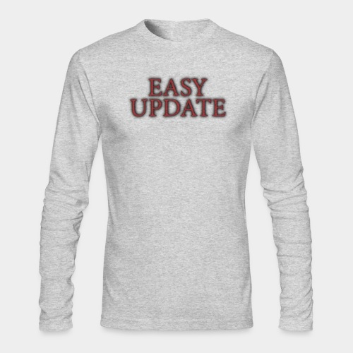 Easy Update Logo Red - Men's Long Sleeve T-Shirt by Next Level