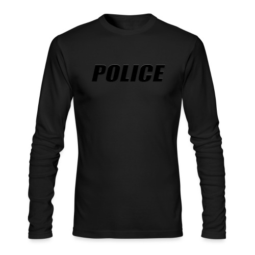 Police Black - Men's Long Sleeve T-Shirt by Next Level