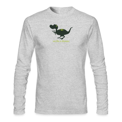 Eat Like A Dinosaur - Men's Long Sleeve T-Shirt by Next Level