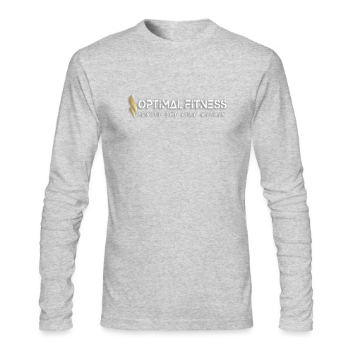 white logo, keep calm and hiit it white - Men's Long Sleeve T-Shirt by Next Level