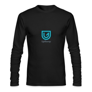 UpRamp Logo Blue Stacked ColorWhite - Men's Long Sleeve T-Shirt by Next Level