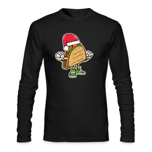 Taco Santa Hat Shirt - Men's Long Sleeve T-Shirt by Next Level