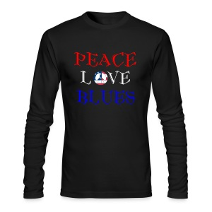 Peace, Love and Blues - Men's Long Sleeve T-Shirt by Next Level