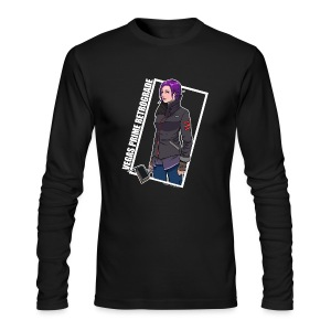 Vegas Prime Retrograde - Clara with White Border - Men's Long Sleeve T-Shirt by Next Level