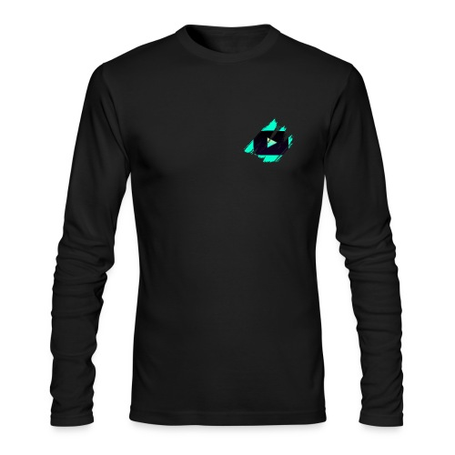 DRFT Clothing: Cyan Youtube is Life - Small Badge - Men's Long Sleeve T-Shirt by Next Level
