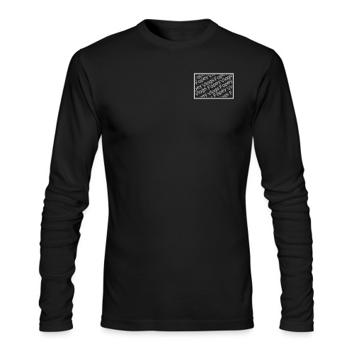 This is a Fopey Vlogs constant text logo - Men's Long Sleeve T-Shirt by Next Level