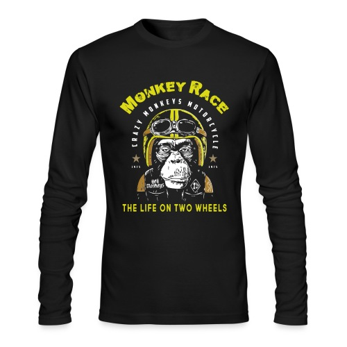 MONKEY RACE - Men's Long Sleeve T-Shirt by Next Level