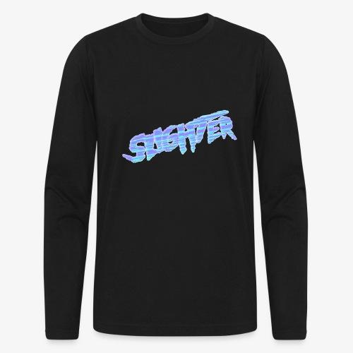 Retro Logo Glitch 2 - Men's Long Sleeve T-Shirt by Next Level