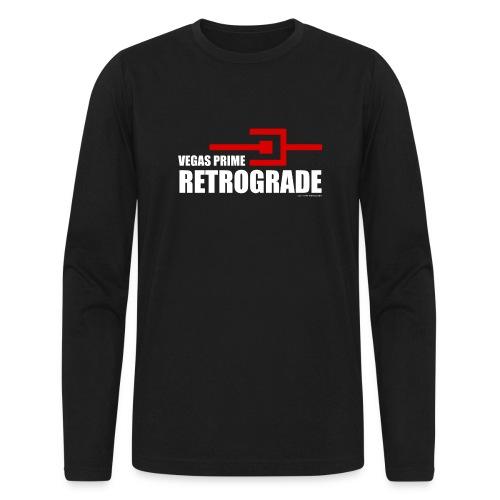 Vegas Prime Retrograde - Title and Hack Symbol - Men's Long Sleeve T-Shirt by Next Level