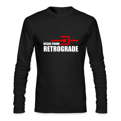 Vegas Prime Retrograde - Title and Hack Symbol - Men's Long Sleeve T-Shirt by Next Level