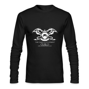 White Game Development Guild Crest - Men's Long Sleeve T-Shirt by Next Level