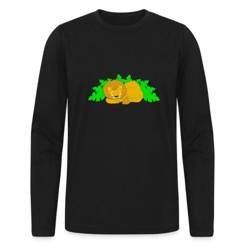 Sleeping Lion - Men's Long Sleeve T-Shirt by Next Level