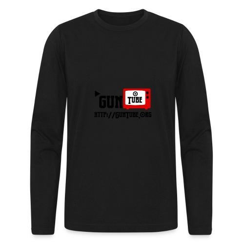 GunTube Shirt with URL - Men's Long Sleeve T-Shirt by Next Level