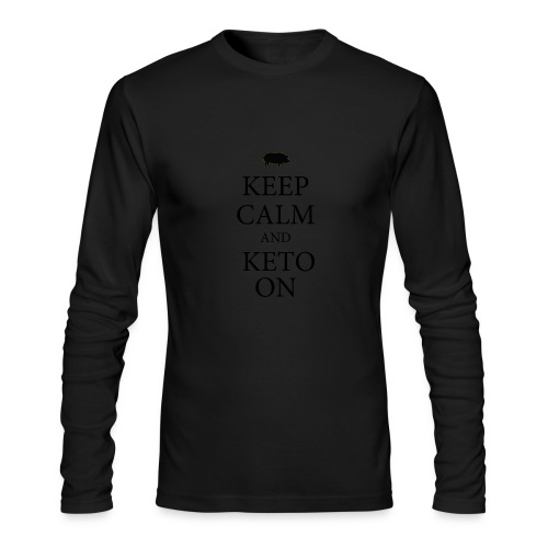 Keto keep calm2 - Men's Long Sleeve T-Shirt by Next Level