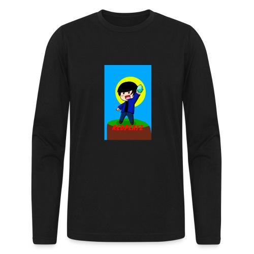 BLUE REDPLAYZ T-SHIRT ORIGINAL DESIGN - Men's Long Sleeve T-Shirt by Next Level
