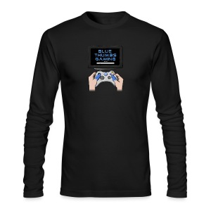 Blue Thumbs Gaming: Gamepad Logo - Men's Long Sleeve T-Shirt by Next Level