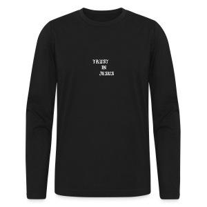 Trust In Jesus Hoodie - Men's Long Sleeve T-Shirt by Next Level