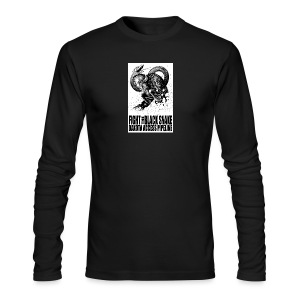 Fight the Black Snake NODAPL - Men's Long Sleeve T-Shirt by Next Level