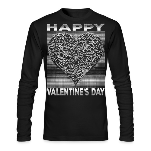 Love Lines Happy Valentines Day Heart - Men's Long Sleeve T-Shirt by Next Level