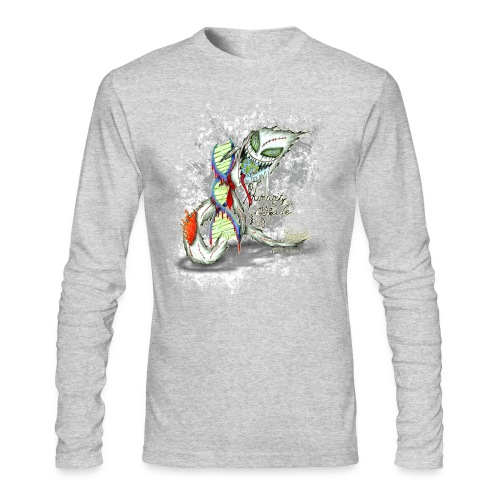 humanity is genocide - Men's Long Sleeve T-Shirt by Next Level