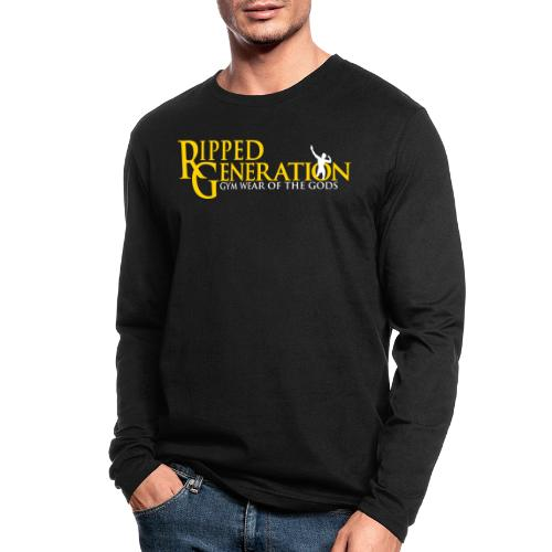 Ripped Generation Logo Gold - Men's Long Sleeve T-Shirt by Next Level