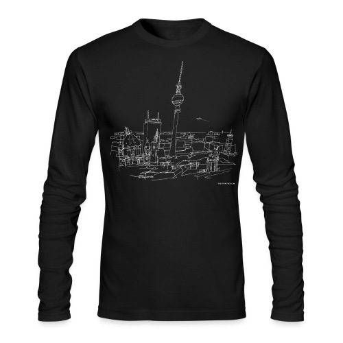 Drawing Berlin (white) - Men's Long Sleeve T-Shirt by Next Level