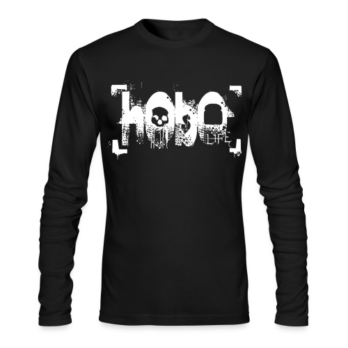 hoboliferenderwhitelarge - Men's Long Sleeve T-Shirt by Next Level