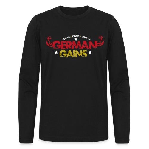 German Gains Logo fuer schwarzes Shirt png - Men's Long Sleeve T-Shirt by Next Level