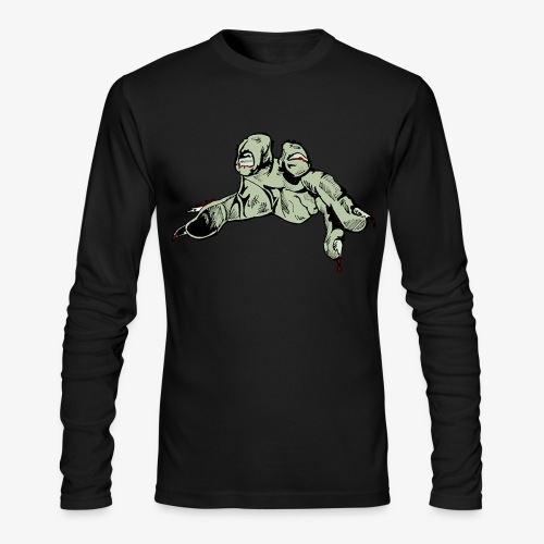 Hand Colored Cropped png - Men's Long Sleeve T-Shirt by Next Level