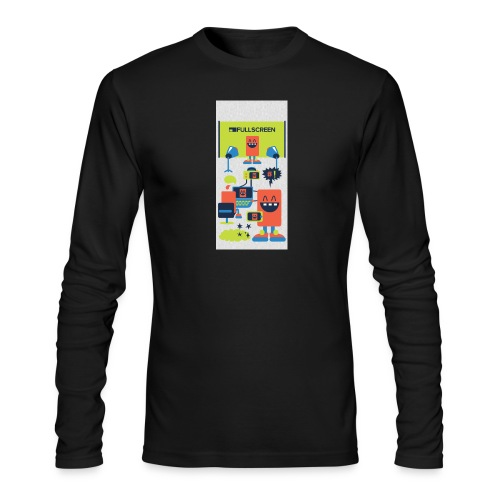 iphone5screenbots - Men's Long Sleeve T-Shirt by Next Level