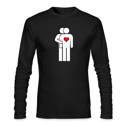 MAN LOVE HEART No. 002 - Men's Long Sleeve T-Shirt by Next Level