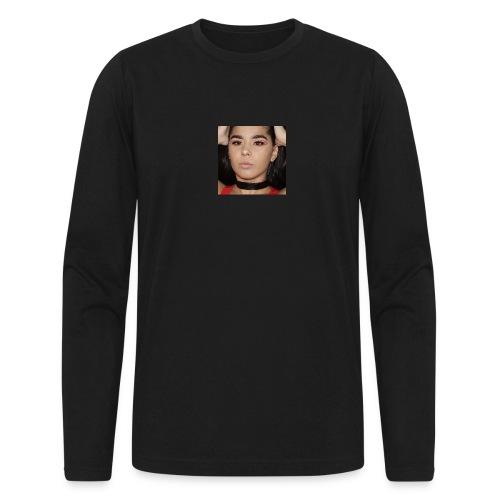 Orange & Black Cut Crease - Men's Long Sleeve T-Shirt by Next Level