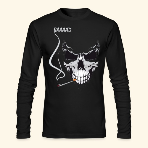 bad smoking skull long sleeve shirts - Men's Long Sleeve T-Shirt by Next Level