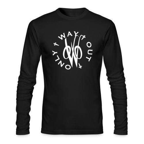 White OWO - Men's Long Sleeve T-Shirt by Next Level