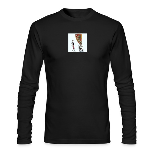 Less mobile more books - Men's Long Sleeve T-Shirt by Next Level