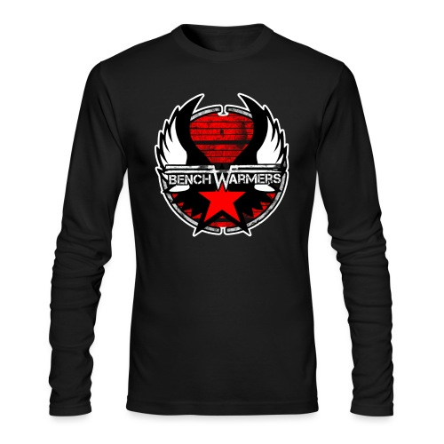 Logo2 Contour blanc - Men's Long Sleeve T-Shirt by Next Level