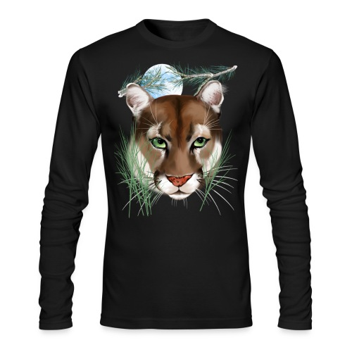 Midnight Puma - Men's Long Sleeve T-Shirt by Next Level