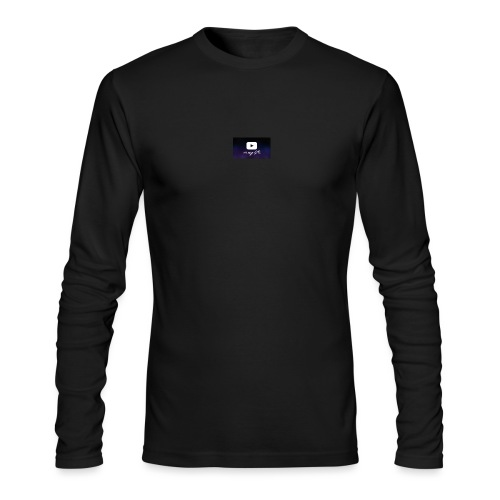 my life is youtube poster - Men's Long Sleeve T-Shirt by Next Level