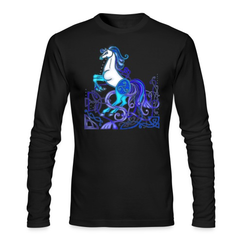 Celtic Horse Silver Blue - Men's Long Sleeve T-Shirt by Next Level