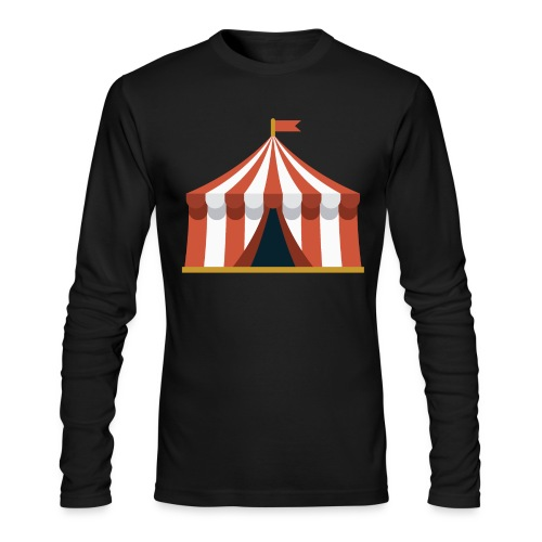 Striped Circus Tent - Men's Long Sleeve T-Shirt by Next Level