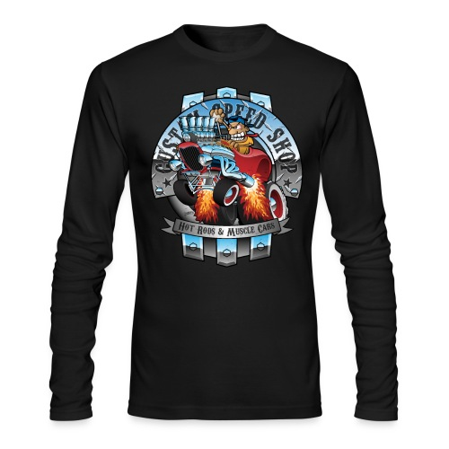 Custom Speed Shop Hot Rods and Muscle Cars Illustr - Men's Long Sleeve T-Shirt by Next Level