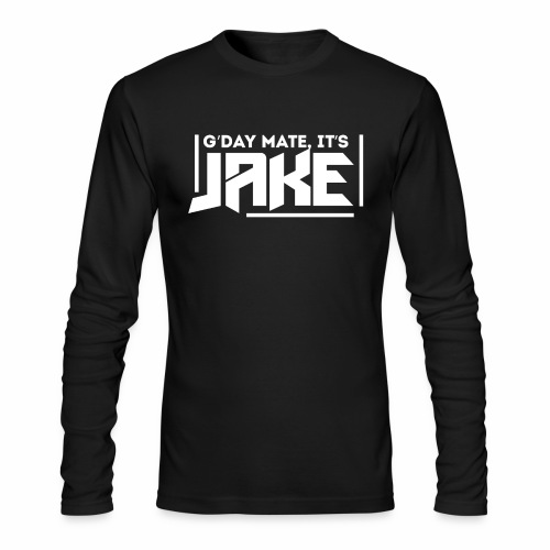 G'Day Mate It's Jake White Logo - Men's Long Sleeve T-Shirt by Next Level