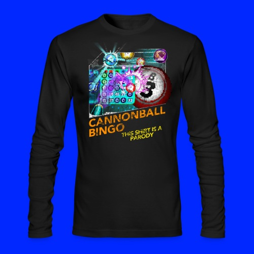 Vintage Cannonball Bingo Box Art Tee - Men's Long Sleeve T-Shirt by Next Level
