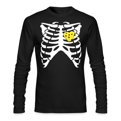 Rest in Pizza Hoodie - Men's Long Sleeve T-Shirt by Next Level