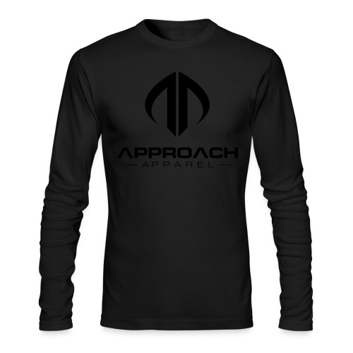 Approach Apparel Athletic Hoodie Shirt- Black Logo - Men's Long Sleeve T-Shirt by Next Level