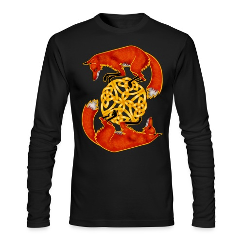 Circling Foxes - Men's Long Sleeve T-Shirt by Next Level