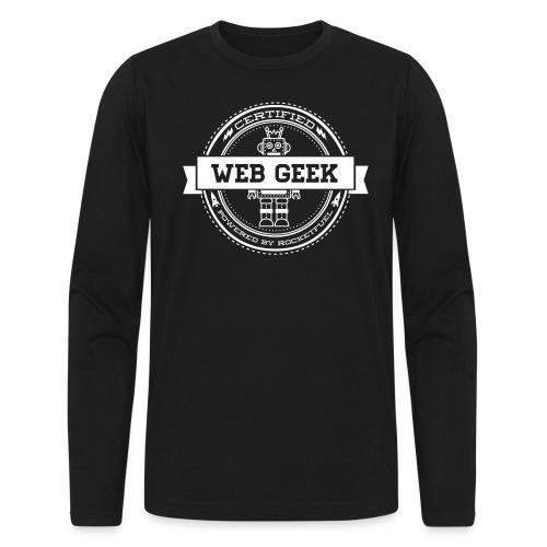 webgeek robot rev - Men's Long Sleeve T-Shirt by Next Level